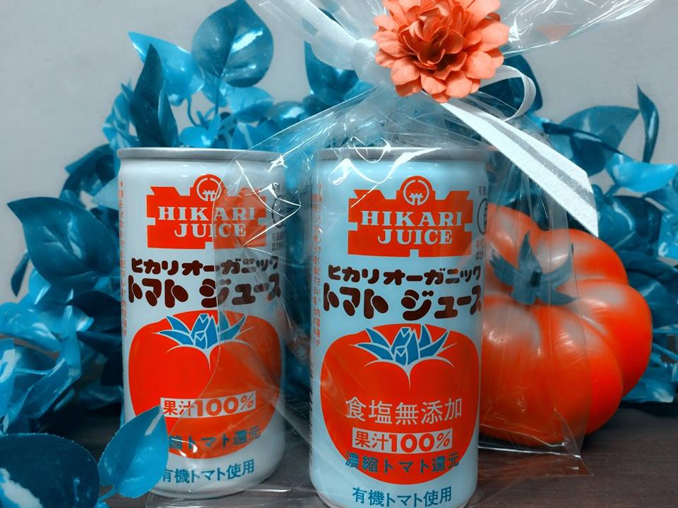 "Give&gift(ギブアンドギフト):ランチのドリンクセットにも!""ヒカリ オーガニック トマトジュース"""