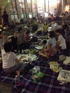 夜のピクニック@六甲アイランド