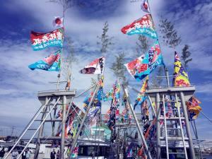 華やか!!岸和田の漁港で新造船のお披露目