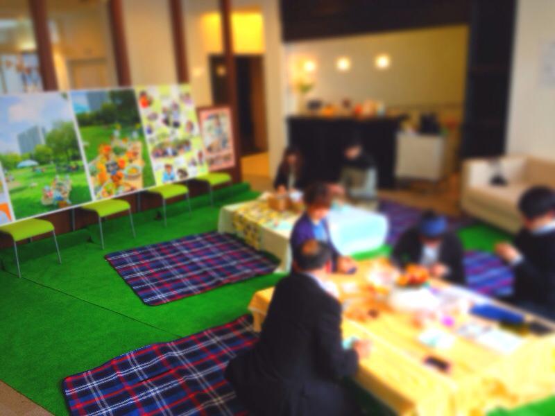 六甲アイランドのピクニックを室内空間で再現♪