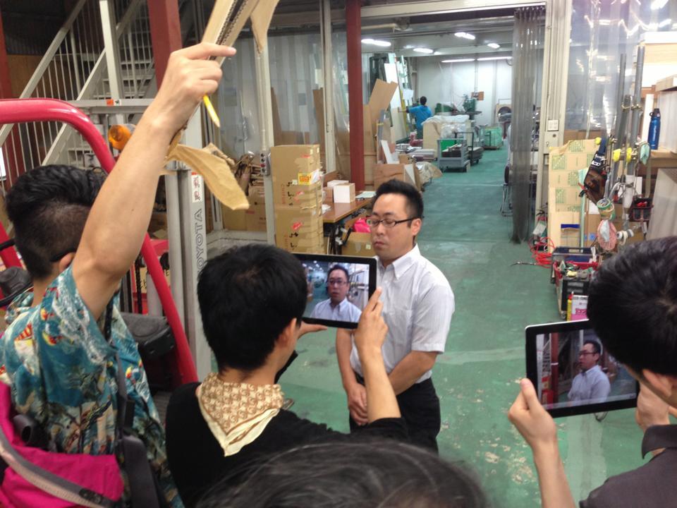 尼崎のアクリル工場【興夢テック】さんに取材に来ました